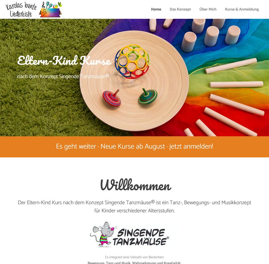 Karolas bunte Liederkiste Webseite