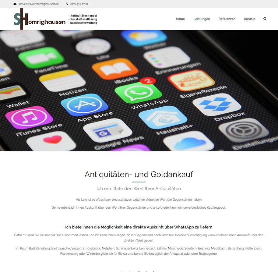 Swen Homrighausen Webseite