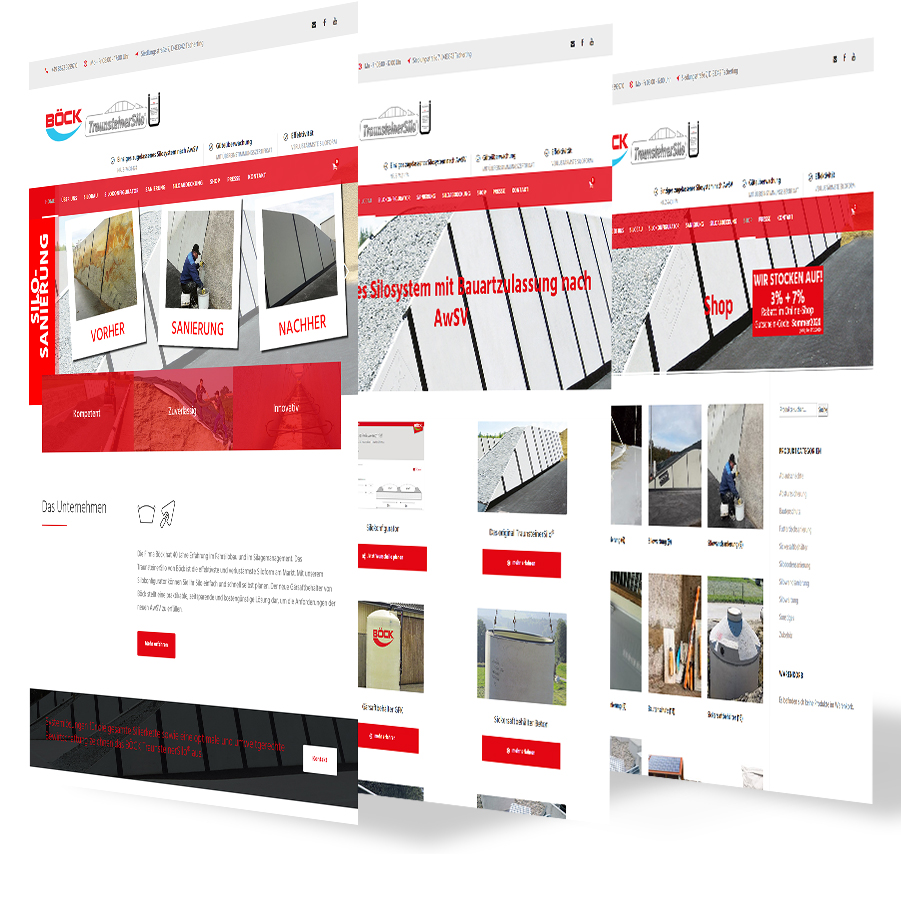 Böck TraunsteinerSilo Webseite
