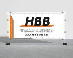 HBB Tiefbau Banner Frontlit