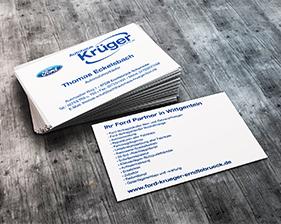Autohaus Krüger Visitenkarten