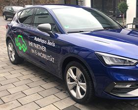 Autohaus Berls Fahrzeugbeschriftung