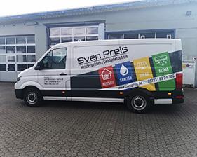 Sven Preis Gebäudetechnik Fahrzeugbeschriftung