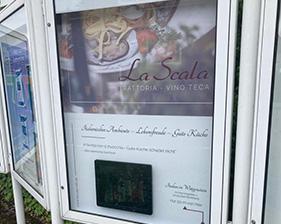 La Scala – Trattoria - Vino Teca AluDibondschild mit digitalem Bilderrahmen